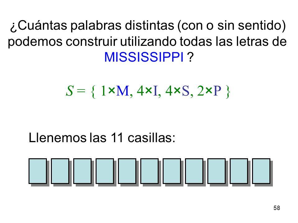 57 El principio del palomar establece que si n palomas se distribuyen en m palomares, y si n > m, entonces al menos habrá un palomar con más de una pa