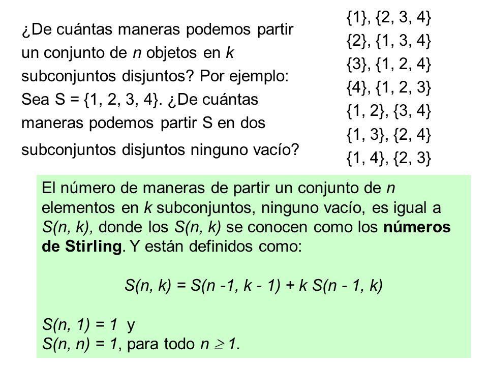 89 (2) Enfoque por funciones generatrices: Función generatriz de los números f(n, r).