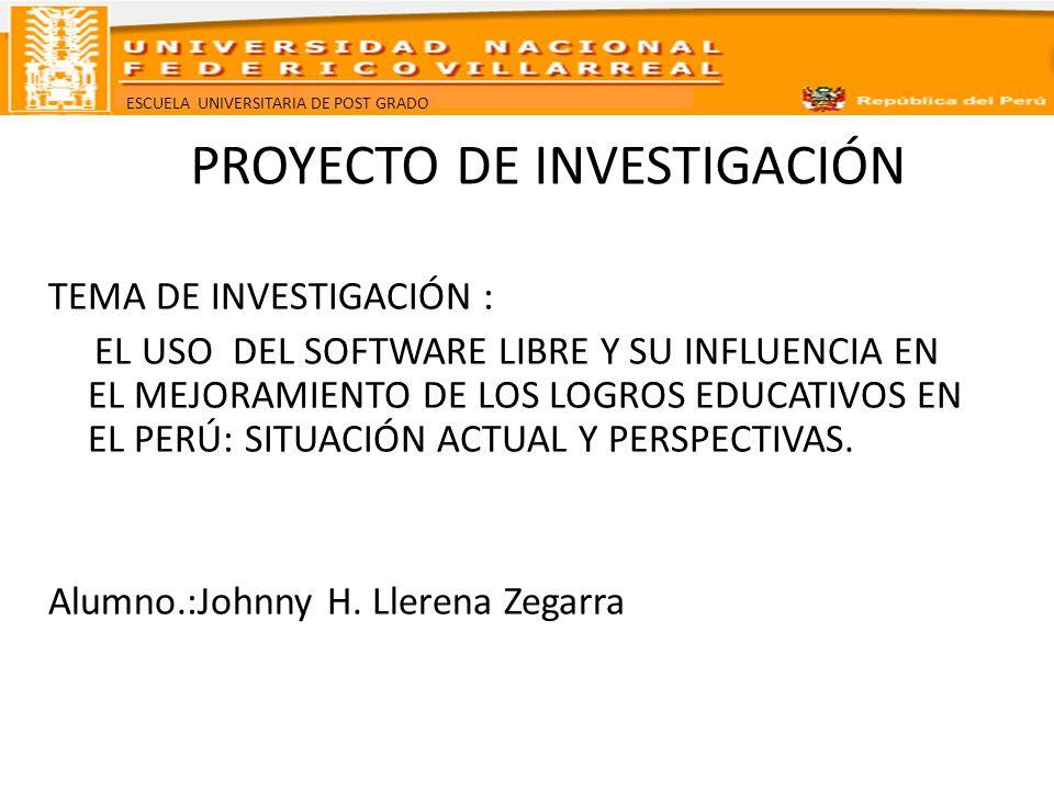 ESCUELA UNIVERSITARIA DE POST GRADO I.PLANTEAMIENTO DEL PROBLEMA 1.1.