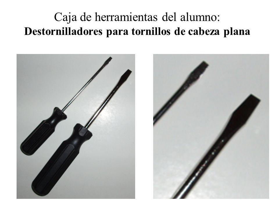 Caja de herramientas del alumno: Destornilladores para tornillos de cabeza plana