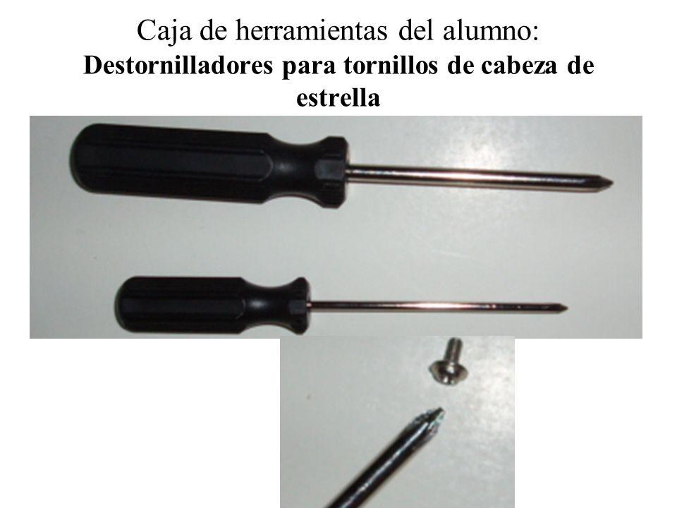 Caja de herramientas del alumno: Destornilladores para tornillos de cabeza de estrella