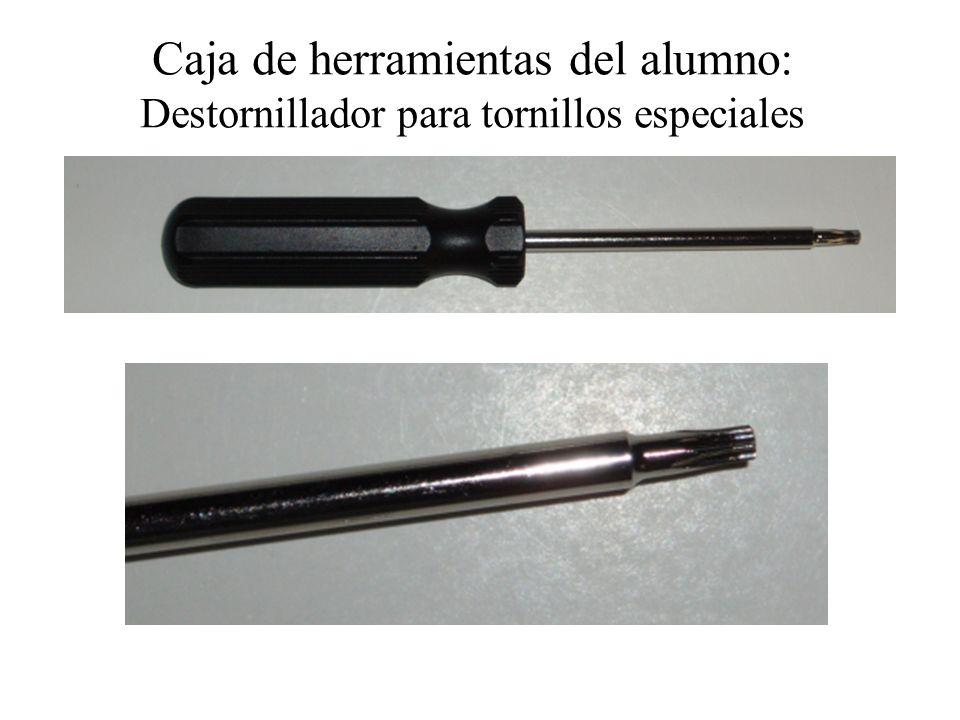 Caja de herramientas del alumno: Destornillador para tornillos especiales
