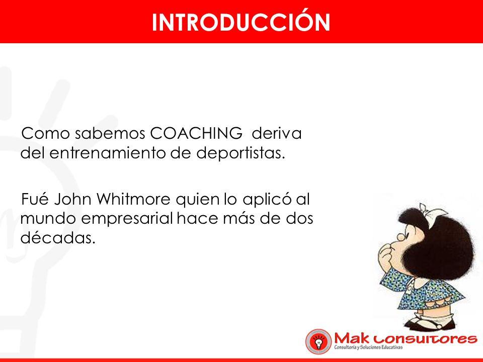Es lo que determina el proceso del coaching. PROCESO DEL COACHING OPCIONES META REALIDAD ACCIONES