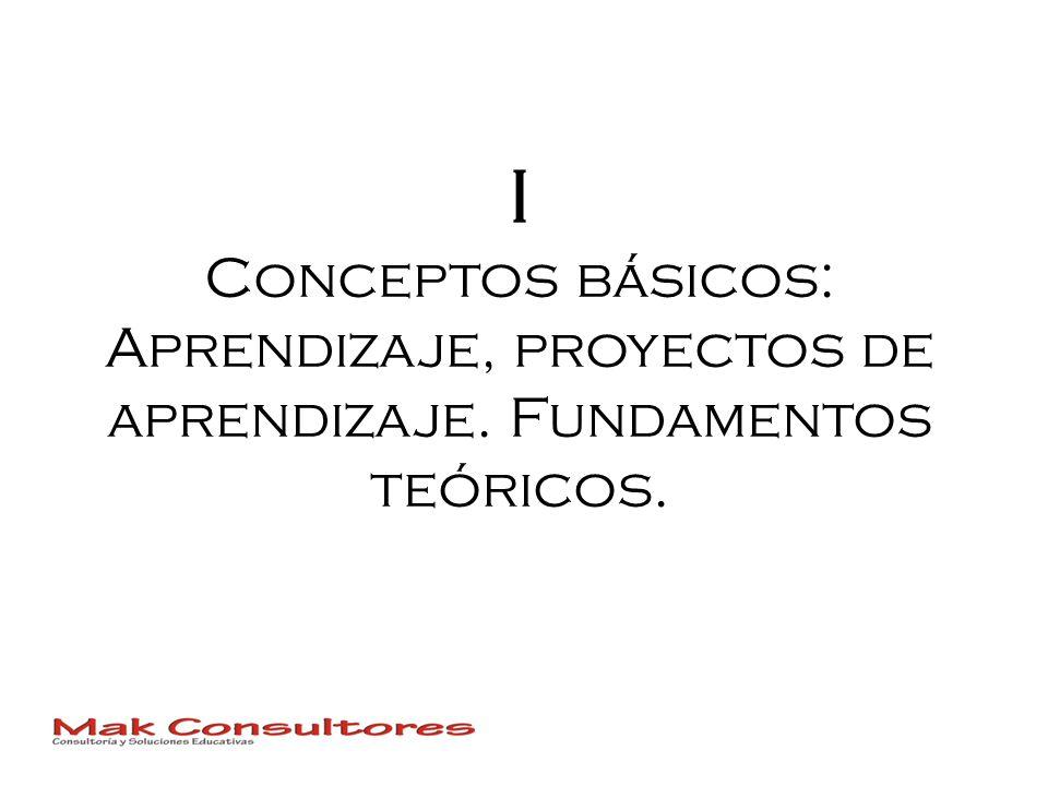I Conceptos básicos: Aprendizaje, proyectos de aprendizaje. Fundamentos teóricos.