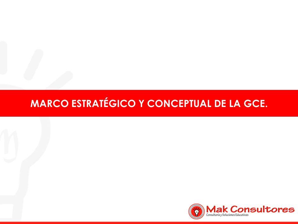 MARCO ESTRATÉGICO Y CONCEPTUAL DE LA GCE.