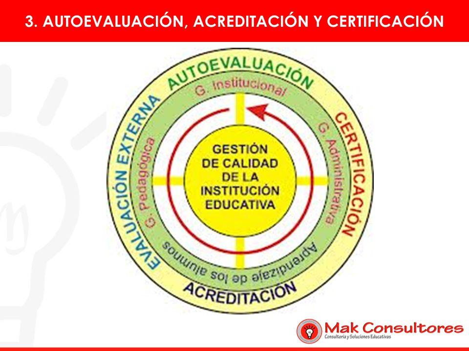 3. AUTOEVALUACIÓN, ACREDITACIÓN Y CERTIFICACIÓN