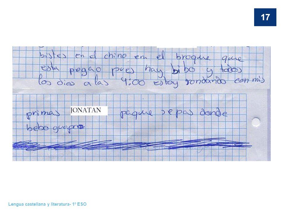 Lengua castellana y literatura- 1º ESO 17