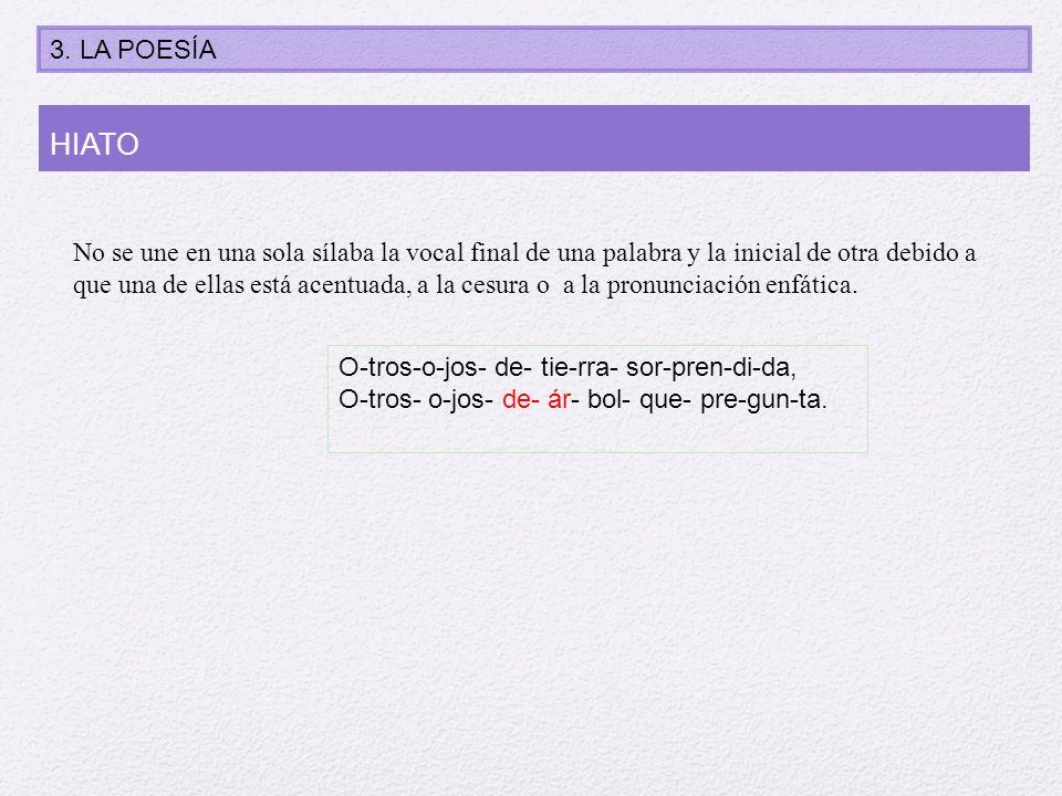 No se une en una sola sílaba la vocal final de una palabra y la inicial de otra debido a que una de ellas está acentuada, a la cesura o a la pronuncia