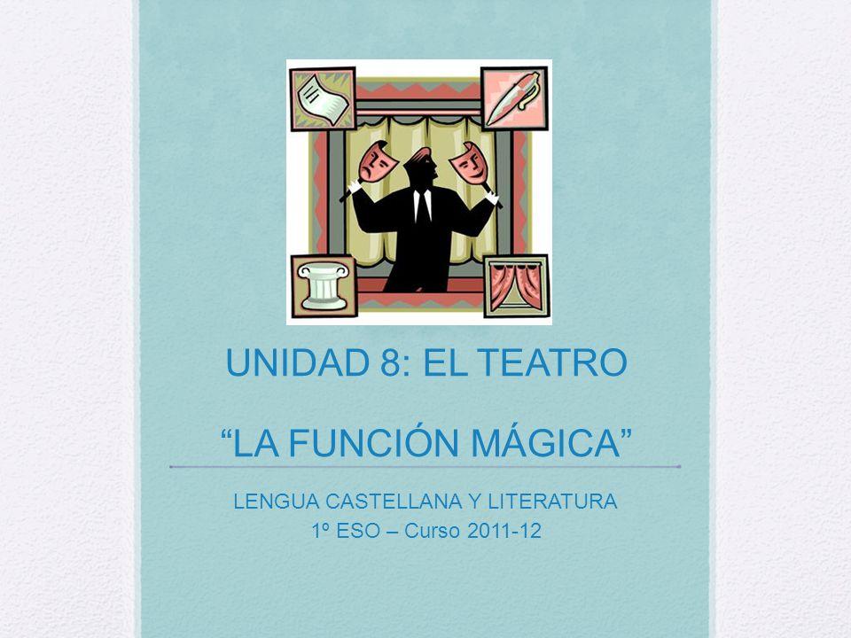 UNIDAD 8: EL TEATRO LA FUNCIÓN MÁGICA LENGUA CASTELLANA Y LITERATURA 1º ESO – Curso 2011-12