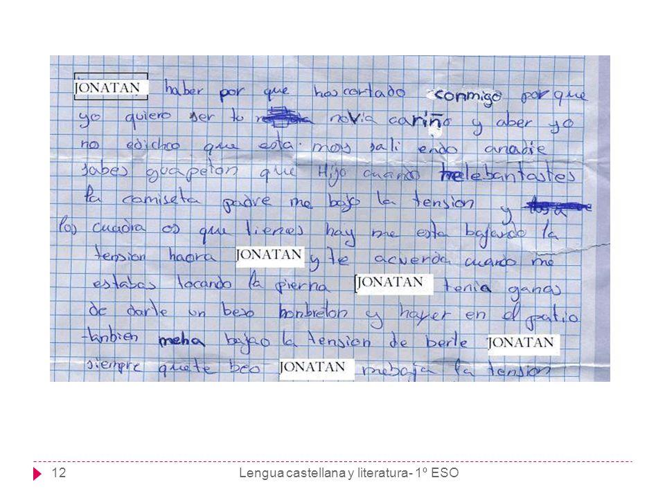 Lengua castellana y literatura- 1º ESO12