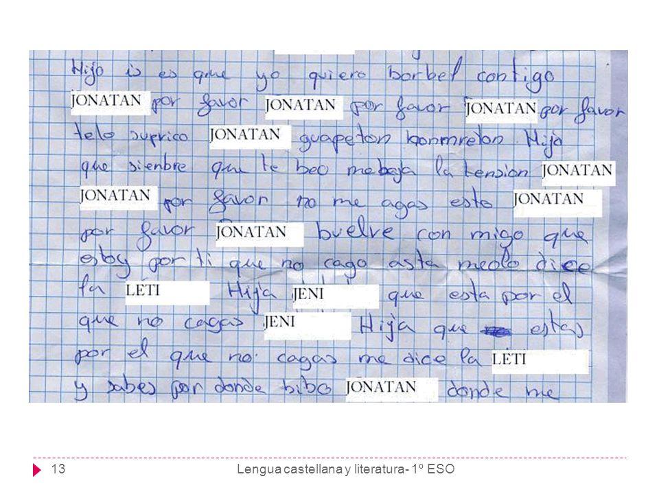 Lengua castellana y literatura- 1º ESO13