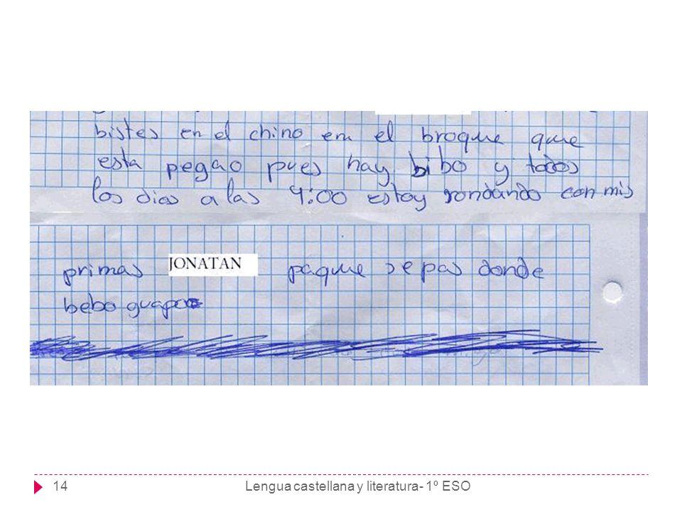 Lengua castellana y literatura- 1º ESO14