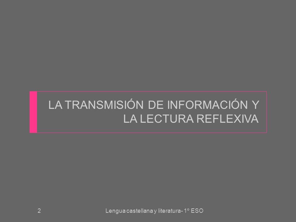 3 TRANSMISIÓN DE INFORMACIÓN El progreso de la humanidad tiene mucho que ver con la capacidad de los seres humanos para recoger y almacenar información útil.