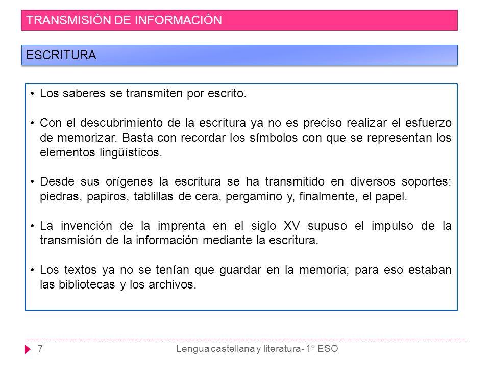 Lengua castellana y literatura- 1º ESO8