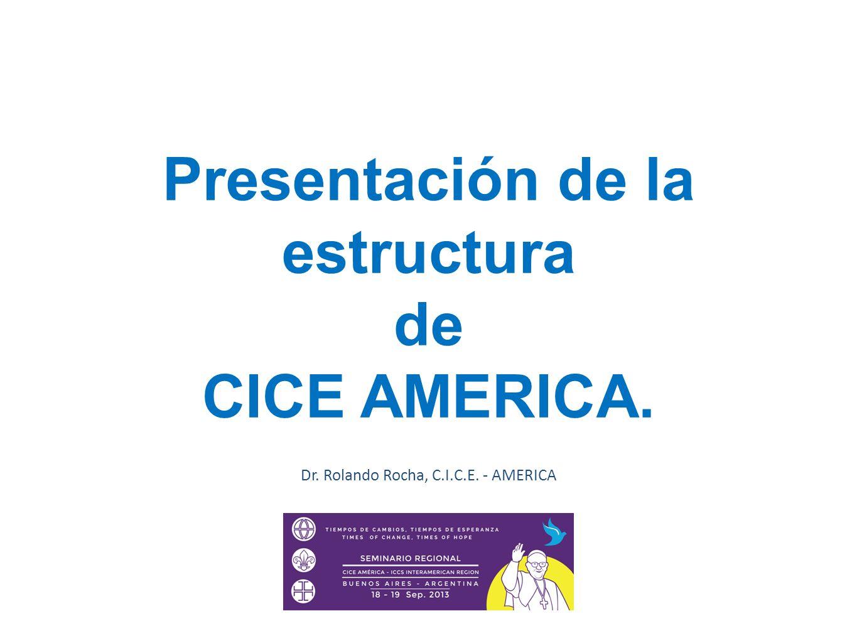 Presentación de la estructura de CICE AMERICA. Dr. Rolando Rocha, C.I.C.E. - AMERICA