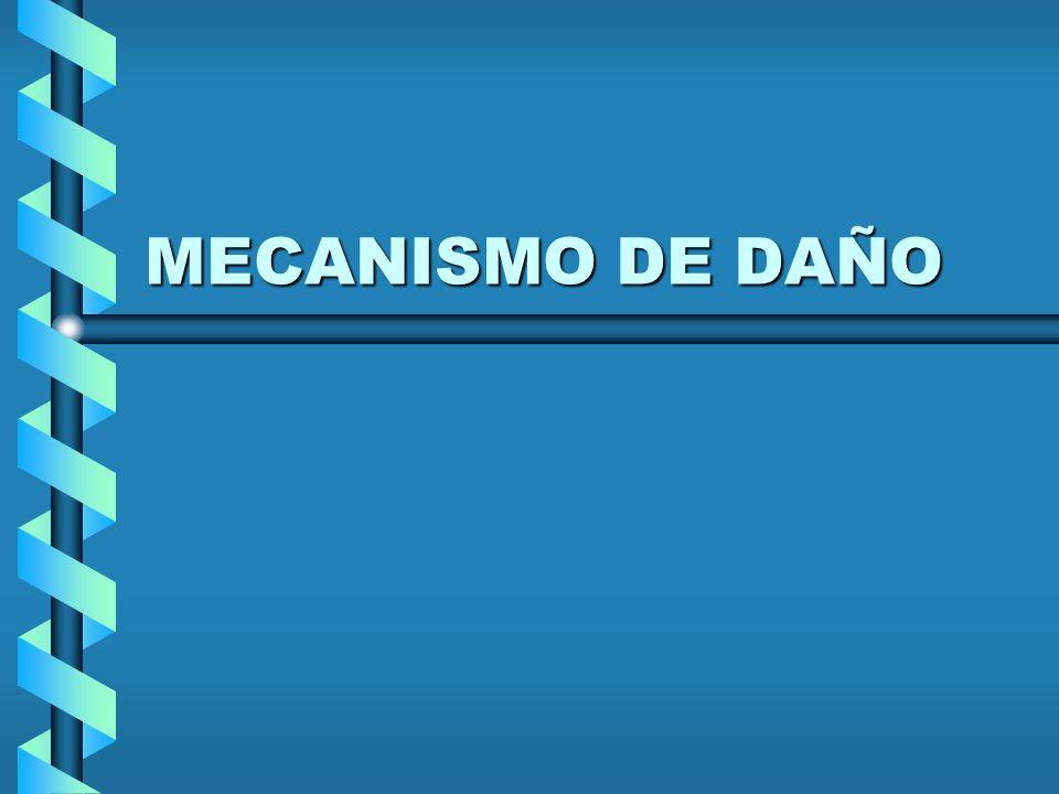 MECANISMO DE DAÑO