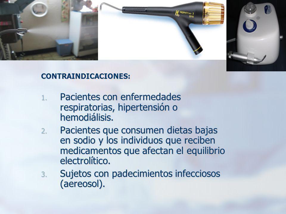 CONTRAINDICACIONES: 1. Pacientes con enfermedades respiratorias, hipertensión o hemodiálisis. 2. Pacientes que consumen dietas bajas en sodio y los in