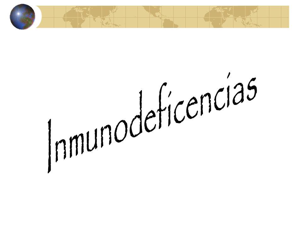 INMUNODEFICIENCIA Alteraciones orgánicas o funcionales que afectan la competencia inmunológica de un individuo.