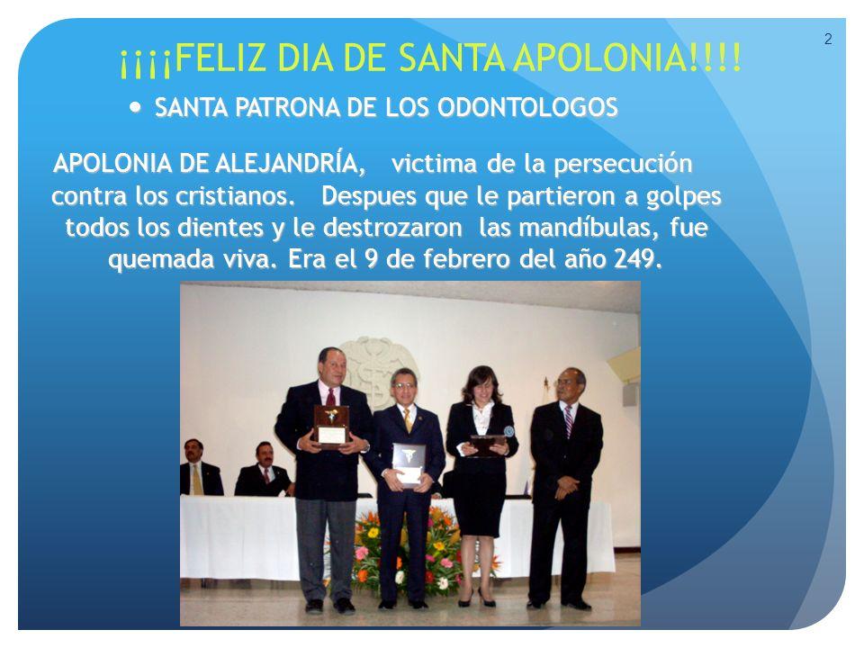 ¡¡¡¡FELIZ DIA DE SANTA APOLONIA!!!! SANTA PATRONA DE LOS ODONTOLOGOS SANTA PATRONA DE LOS ODONTOLOGOS APOLONIA DE ALEJANDRÍA, victima de la persecució