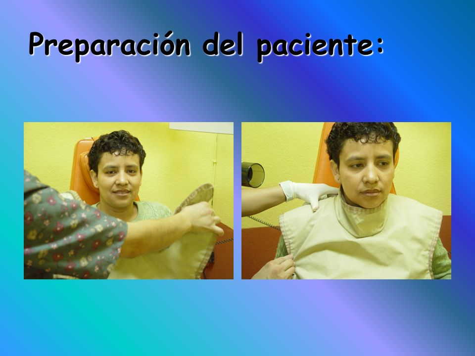 Preparación del paciente: