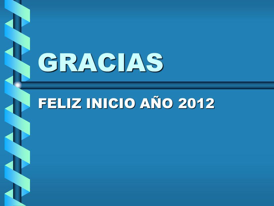 GRACIAS FELIZ INICIO AÑO 2012