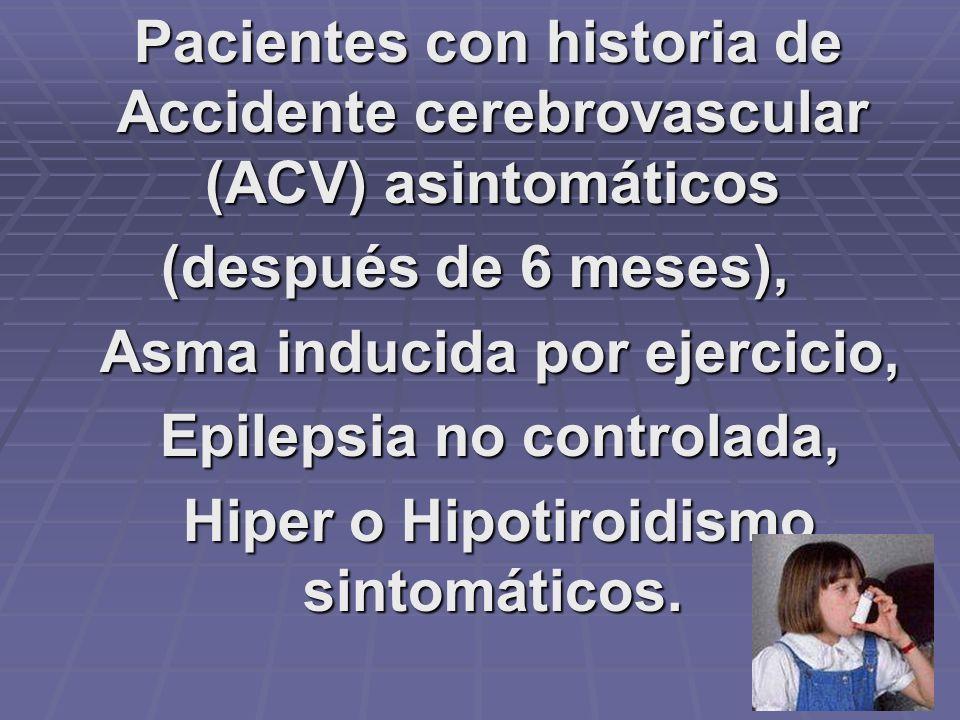 Diabetes tipo I controlada, sida, y II no controlada Enfermedad Pulmonar obstructiva crónica, Hemofilia