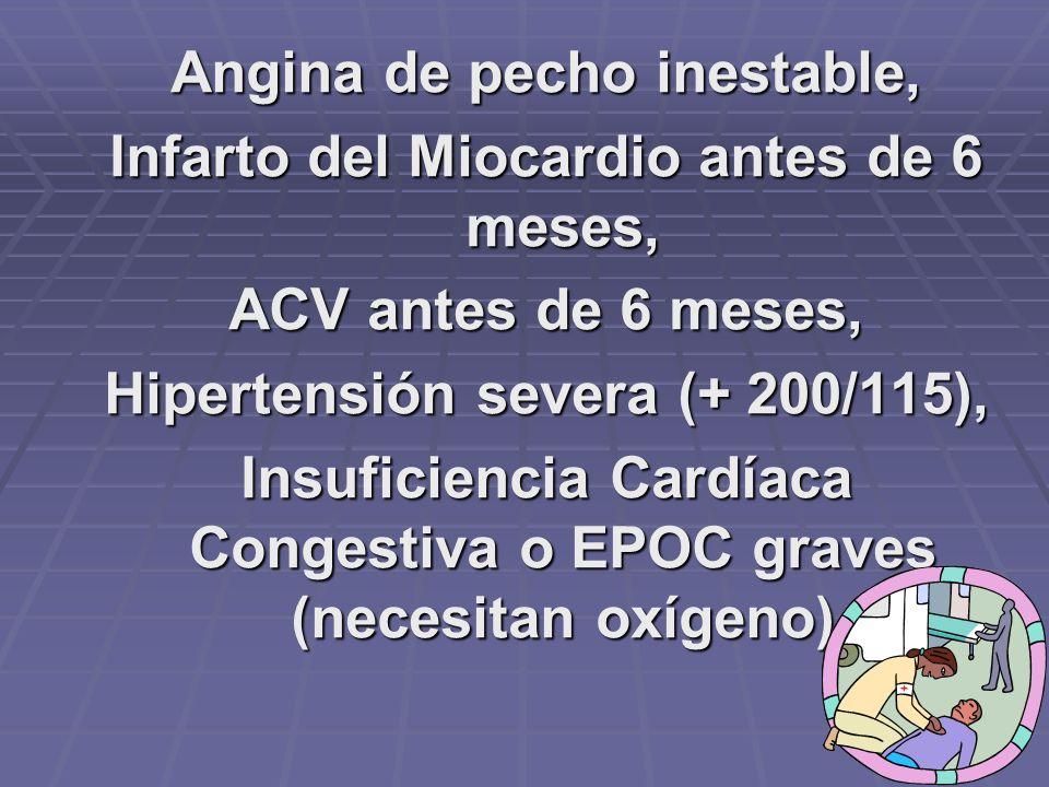Pacientes con Insuficiencia Renal, Falla Hepática, sida en etapa avanzada
