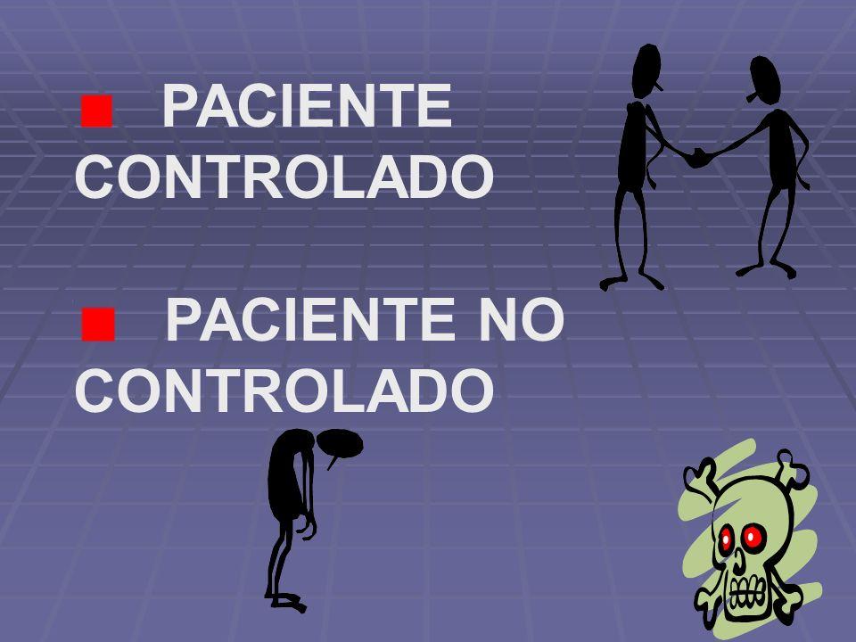 PACIENTE CONTROLADO PACIENTE NO CONTROLADO