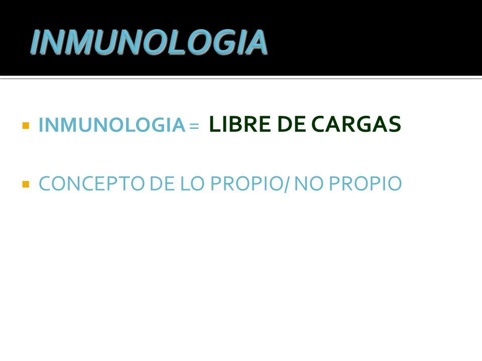 INMUNOLOGIA = LIBRE DE CARGAS CONCEPTO DE LO PROPIO/ NO PROPIO