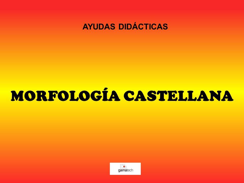 MORFOLOGÍA CASTELLANA AYUDAS DIDÁCTICAS