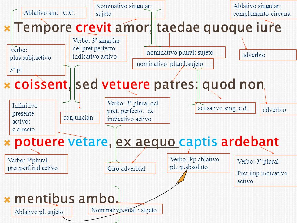 Conscius omnis abest; nutu signisque Verbo: 3ª pl.