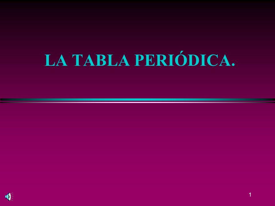 1 LA TABLA PERIÓDICA.