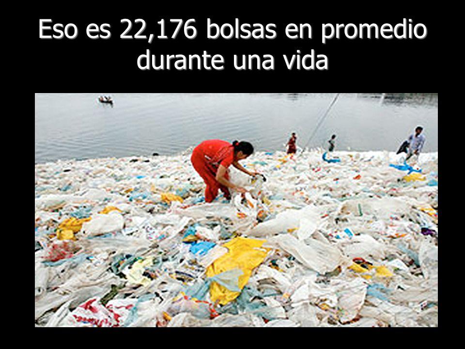 Eso es 22,176 bolsas en promedio durante una vida