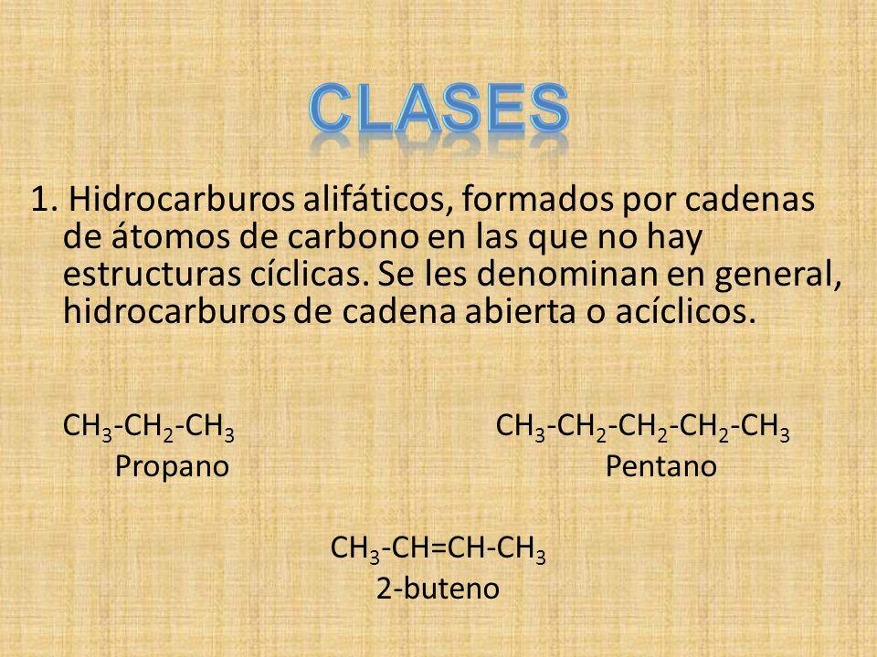 Los alcanos son incoloros, y, generalmente, sin olor (el metano y algunos términos superiores poseen un ligero olor aliáceo).