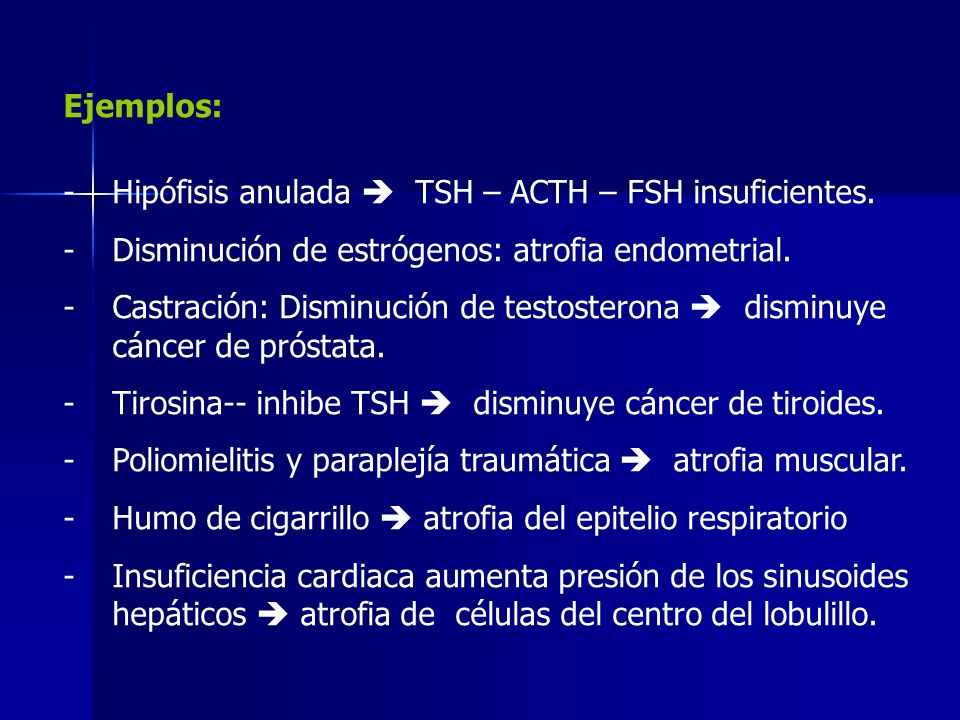Atrophy of the brain