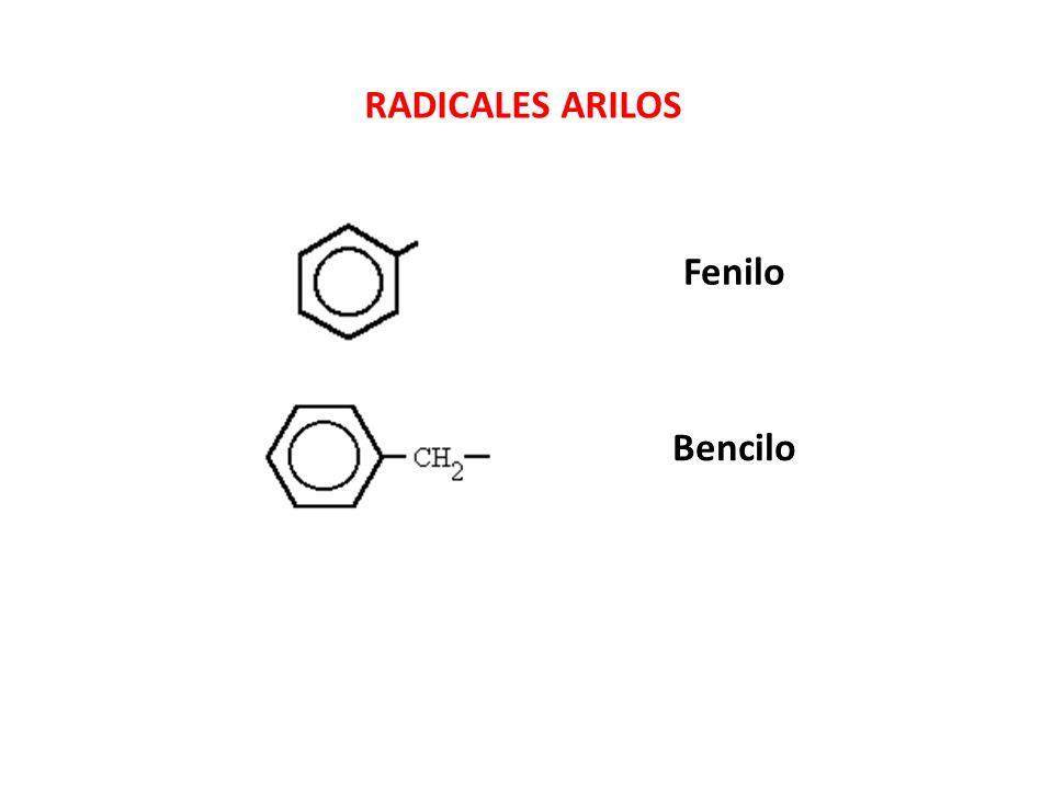Fenilo Bencilo RADICALES ARILOS