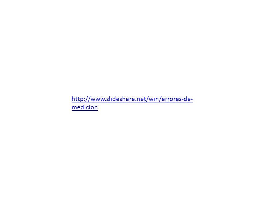 http://www.slideshare.net/win/errores-de- medicion