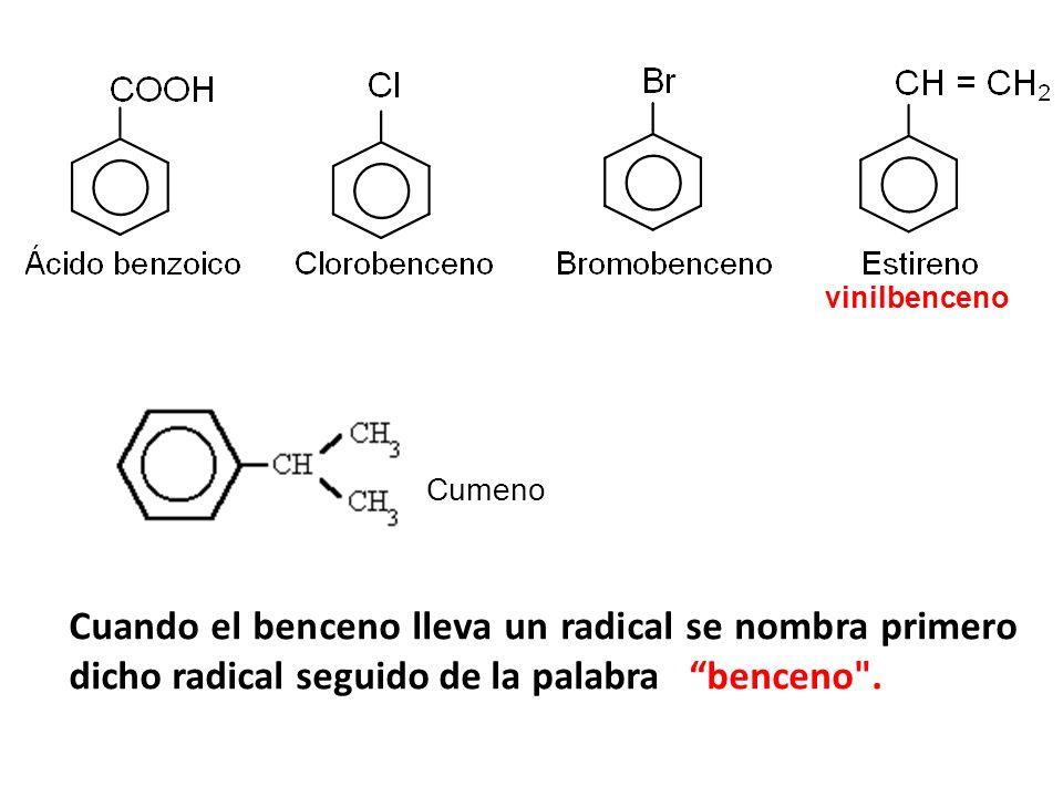 Naftaleno : C 10 H 8 Se Obtiene por destilación del alquitrán de hulla, entre 170 ºC y 250 ºC Antraceno: C 14 H 10 Se Obtiene por destilación del alquitrán de hulla, entre 340 ºC y 360 ºC