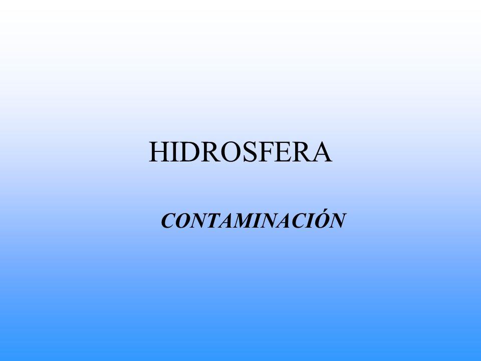 HIDROSFERA CONTAMINACIÓN