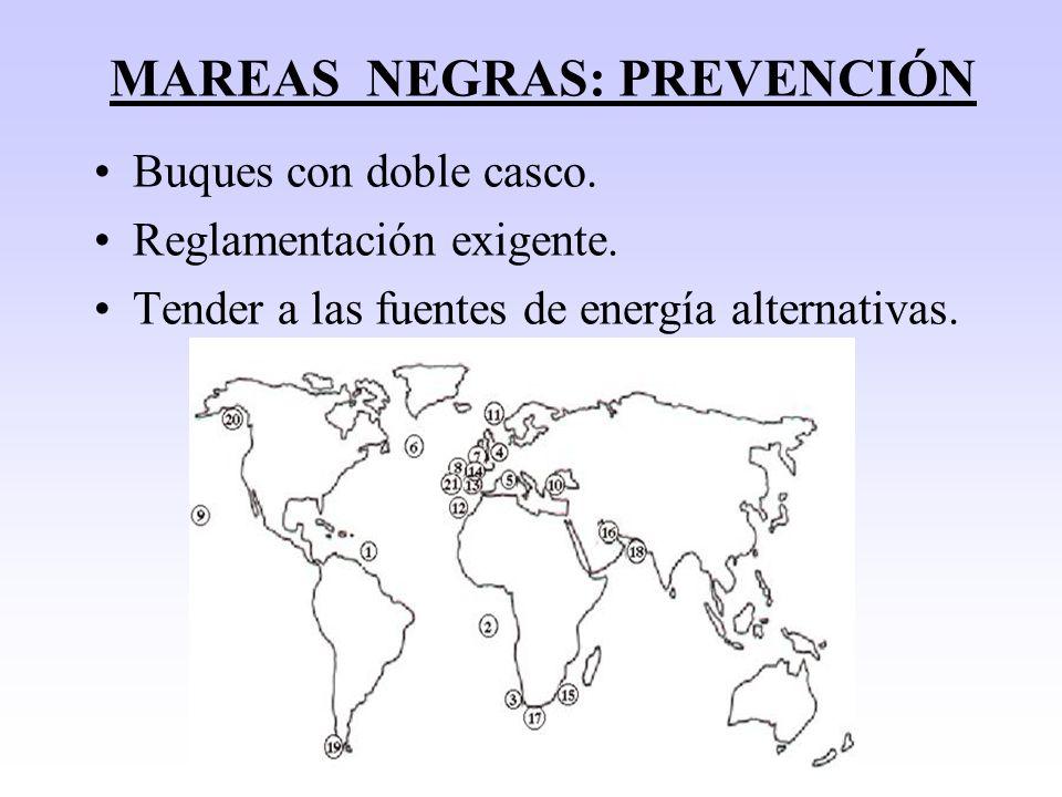 MAREAS NEGRAS: CORRECCIÓN Capacidad autodepuradora del mar.