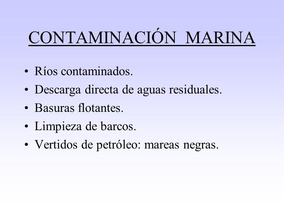 Contaminantes del agua INDUSTRIA -C. Nucleares -C.