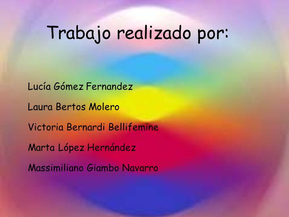 Trabajo realizado por: Lucía Gómez Fernandez Laura Bertos Molero Victoria Bernardi Bellifemine Marta López Hernández Massimiliano Giambo Navarro
