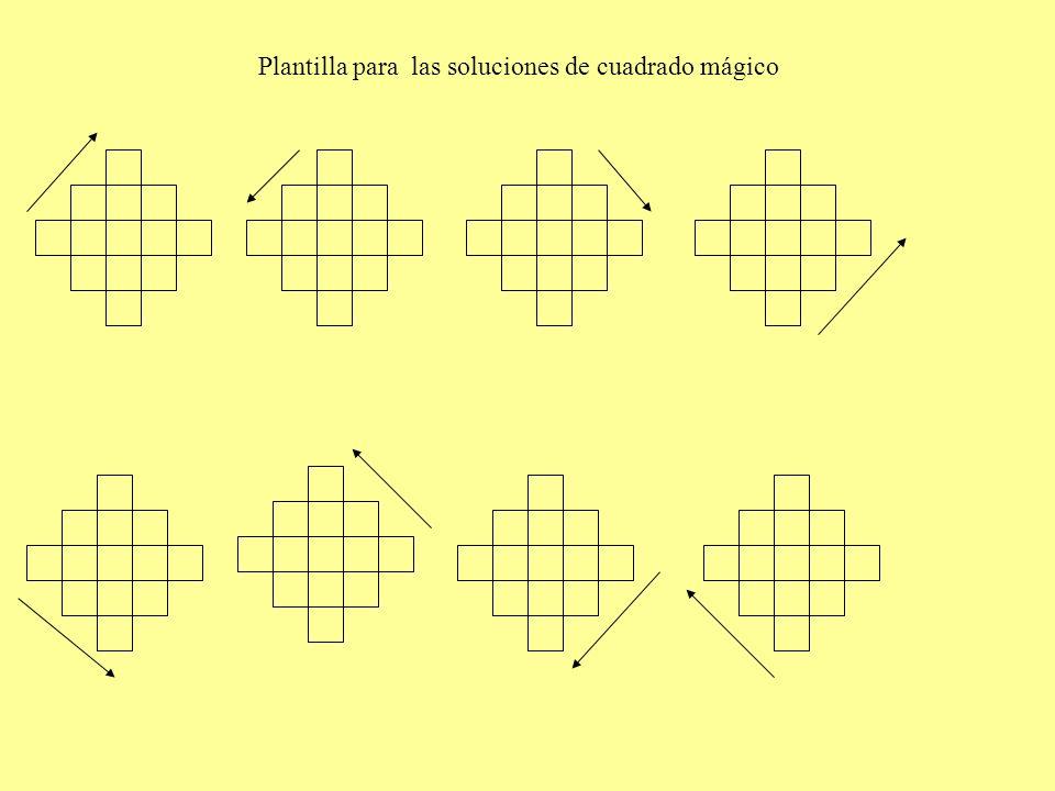 Plantilla para las soluciones de cuadrado mágico