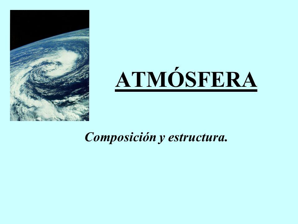 La atmósfera se extiende hasta unos 1000 km, aunque en sus 15 primeros km se encuentra el 95% de los gases que la componen.