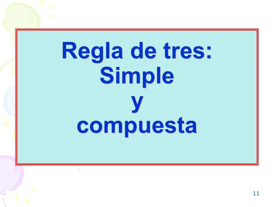 11 Regla de tres: Simple y compuesta