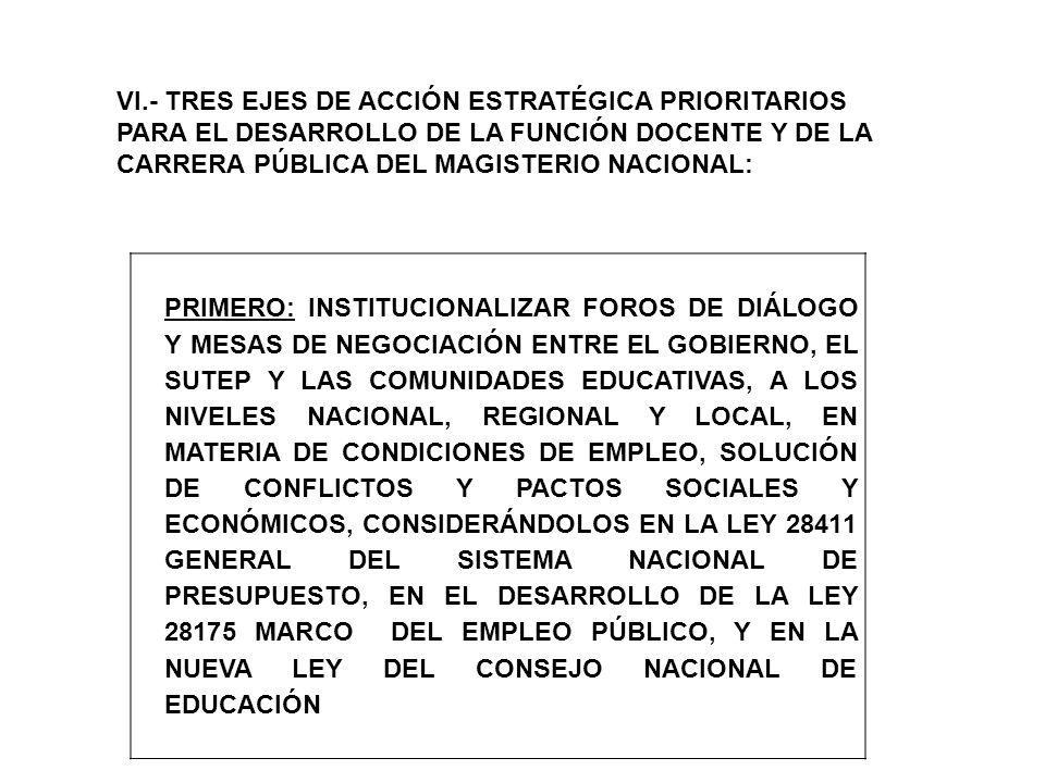 PRIMERO: INSTITUCIONALIZAR FOROS DE DIÁLOGO Y MESAS DE NEGOCIACIÓN ENTRE EL GOBIERNO, EL SUTEP Y LAS COMUNIDADES EDUCATIVAS, A LOS NIVELES NACIONAL, R