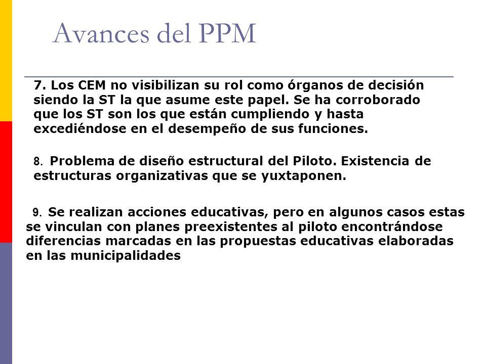 Avances del PPM 8. Problema de diseño estructural del Piloto.