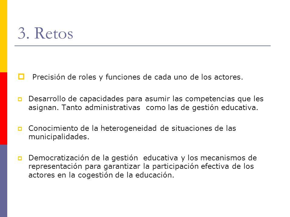 3. Retos Precisión de roles y funciones de cada uno de los actores.