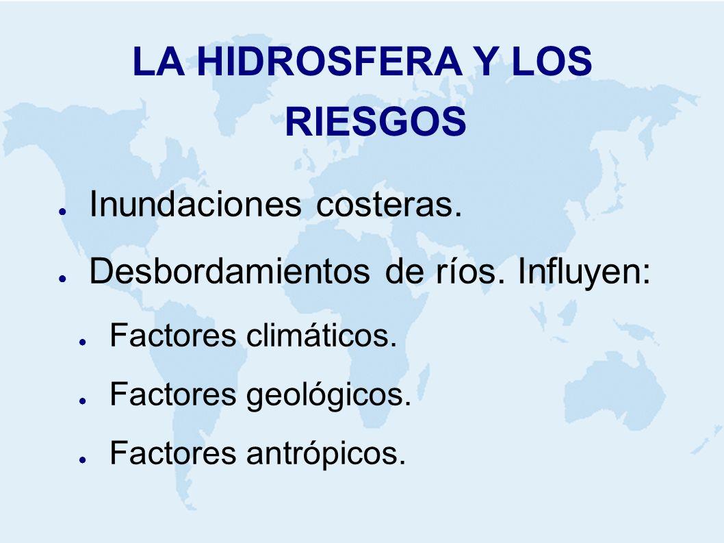 LA HIDROSFERA Y LOS RIESGOS Inundaciones costeras.