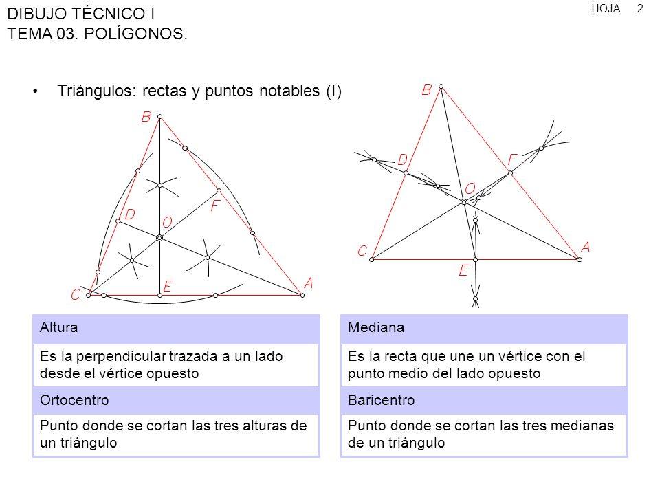 HOJA DIBUJO TÉCNICO I TEMA 03.POLÍGONOS. 23 Polígono de 8 lados, conociendo el lado 1.
